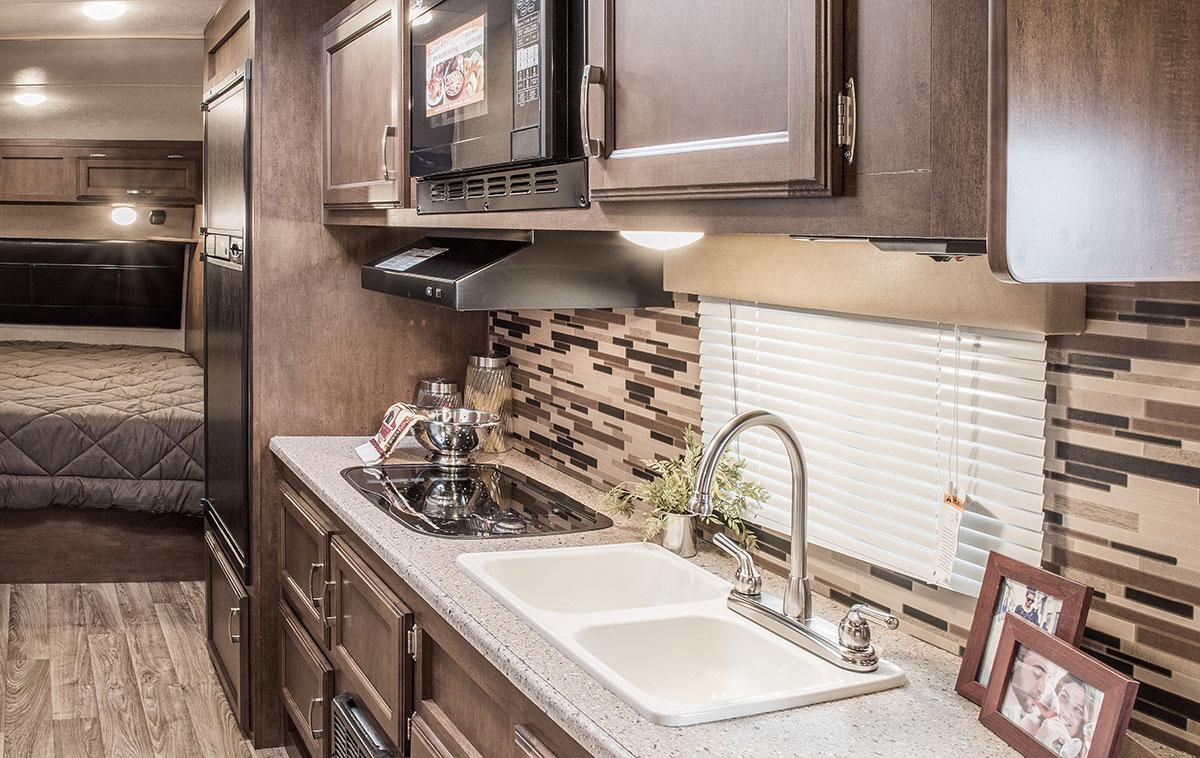 ... 2017 Venture RV Sonic SN210VRD Travel Trailer Kitchen Cabinets ...
