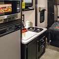 2018 Venture RV Sonic Lite SL169VRD Travel Trailer Kitchen in Coffee Decor