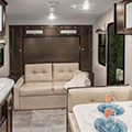 2018 Venture RV Sonic SN190VRB Travel Trailer Sofa