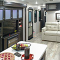 2018 Venture RV SportTrek Touring Edition STT333VFK Travel Trailer Entertainment Center