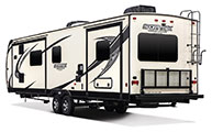 2018 Venture RV SportTrek Touring Edition STT333VFK Travel Trailer Exterior Rear 3-4 Off Door Side