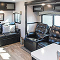 2018 Venture RV SportTrek Touring Edition STT333VFK Travel Trailer Sofa