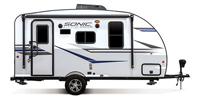 2020 Venture RV Sonic SN220VBH Travel Trailer Exterior Side Profile Door