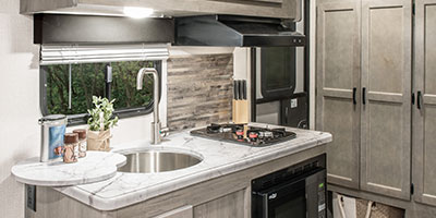 2020 Venture RV Sonic SN220VBH Travel Trailer Kitchen