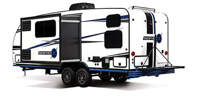 2020 Venture RV Sonic X SN211VDBX Travel Trailer Exterior Rear 3-4 Off Door Side with Slide Out