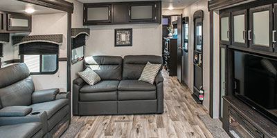 2020 Venture RV SportTrek Touring Edition STT336VRK Travel Trailer Sofa