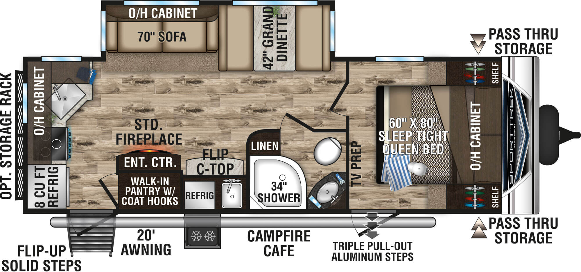 2020 Sporttrek St251vrk Travel Trailer Venture Rv By submitting, you opt in to receive email and texting communication from lazydays rv. 2020 sporttrek st251vrk travel trailer