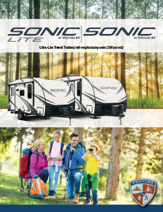 2018 Venture RV Sonic Travel Trailers Brochure