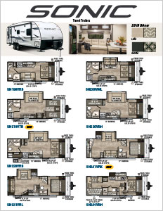2019 Venture RV Sonic Travel Trailers Flyer