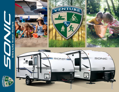 2019 Venture RV Sonic and Sonic Lite Ultra-Lite Travel Trailers Brochure