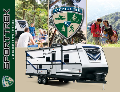 2019 Venture RV SportTrek Lightweight Travel Trailers Brochure