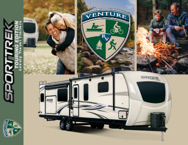 2019 Venture RV SportTrek Touring Edition Luxury Travel Trailers Brochure