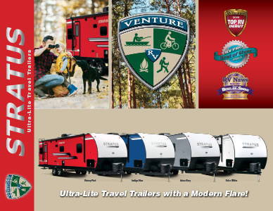 2019 Venture RV Stratus Ultra-Lite Travel Trailers Brochure