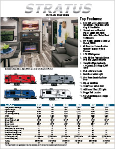 2019 Venture RV Stratus Ultra-Lite Travel Trailers Flyer