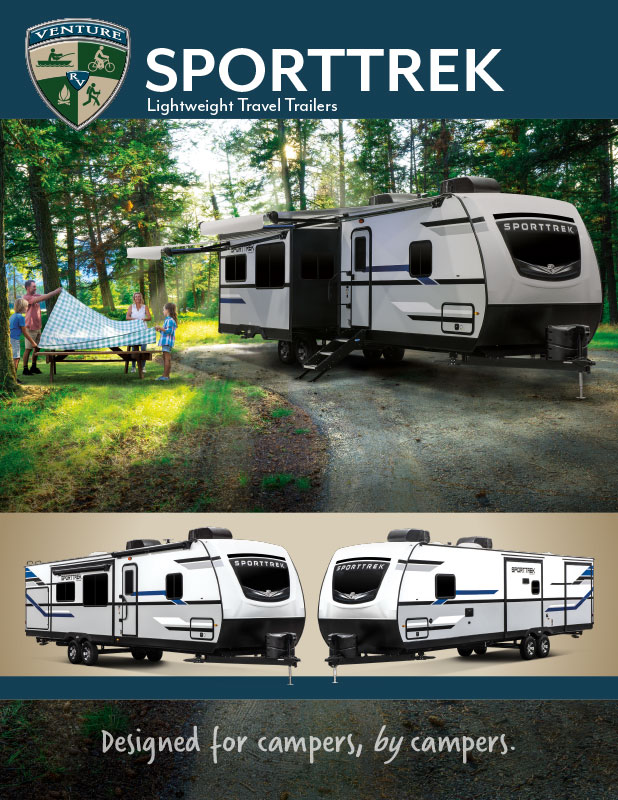 2021 Venture RV SportTrek Lightweight Travel Trailers Brochure