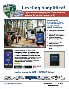Venture RV LevelMatePRO Wireless Vehicle Leveling System Flyer