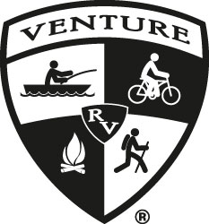 Venture RV Black and White Logo